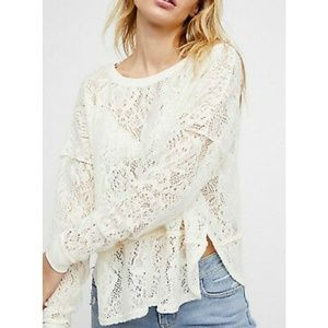 Free People lace pullover